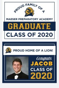 picture showing senior yard sign options